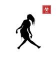 black silhouette women zombie vector image vector image