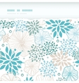 Blue and gray plants horizontal torn seamless vector image vector image