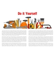 Building home repair work tools and instruments vector image vector image