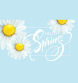 calligraphic inscription hello spring with spring vector image vector image