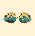 camping badge design outdoor logo vector image vector image