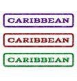 caribbean watermark stamp vector image