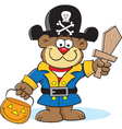 Cartoon Teddy Bear Pirate vector image