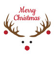 christmas antlers with nose vector image vector image