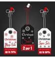 Christmas sale tags with snowflakes vector image vector image