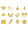 collection of 12 elements with glitter set of vector image vector image