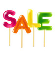 color sale candy vector image