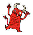 comic cartoon demon vector image
