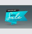 creative blue mega sale banner template vector image