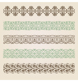 Decorative seamless borders set vector image vector image