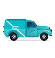 delivery blue van icons collection vector image vector image