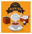 different kind of tea vector image