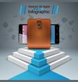 digital gadget smartphone - business infographic vector image