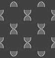dna concept geometric dark seamless pattern vector image