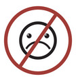 do not sad icon vector image