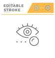 eye lens line icon vector image vector image