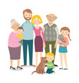 family portrait - parents children grandparents vector image