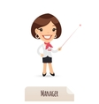 Female Manager With Laser Pointer vector image vector image