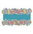 Floral ethnic frame hand-drawn