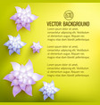 floral natural bright poster vector image