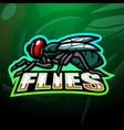fly mascot esport logo design vector image vector image