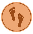 footprints bronze coin vector image vector image