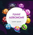 funny astronomy childish page design vector image