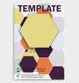 geometric shape diamond abstract template vector image vector image