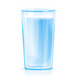 glass clean water isolated vector image vector image