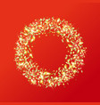 gold ring made sparkling gold pieces vector image vector image