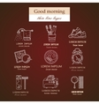 Good morning thin line icon set vector image vector image