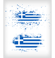 Grunge greek ink splattered flag vector image vector image