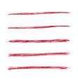 hand drawn underline vector image vector image