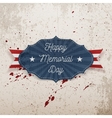 Happy Memorial Day greeting Label with Text vector image vector image