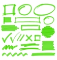 Highlighter Marking Design Elements vector image vector image