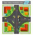 Highway junction roads vector image vector image