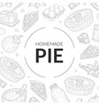 homemade pie banner template with baking vector image vector image