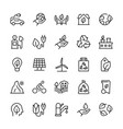 icon set ecology in line style vector image