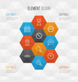 internet icons set collection of message bubble vector image vector image