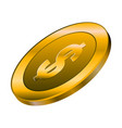 isolated golden coin vector image vector image
