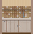 kitchen element with sink vector image