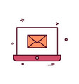 laptop email icon design vector image