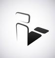 Logo for letter i vector image vector image