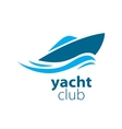 logo yacht vector image vector image