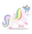 love pink unicorn vector image