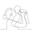 mother holding little baby in her arms continuous vector image