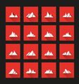 Mountain icons long Shadow vector image