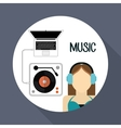 Music icon design vector image vector image