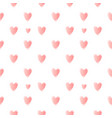 nice pattern with pink hearts vector image vector image