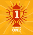 number one label concept vector image